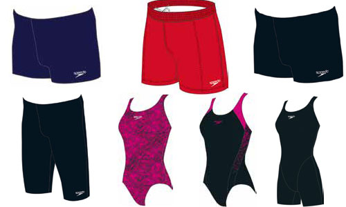 Swim costumes and shorts for junior boys and girls