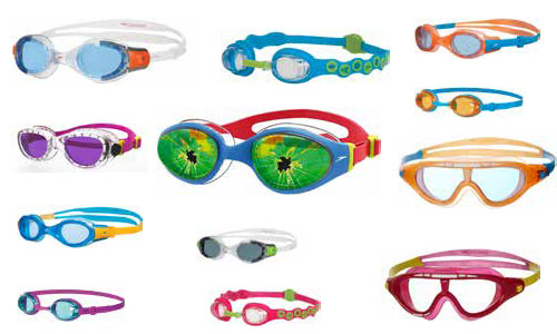Swimming goggles for children in different colours and designs